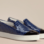 Finery London luxury slip on trainer in patent croc