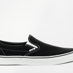 Vans black slip on trainers