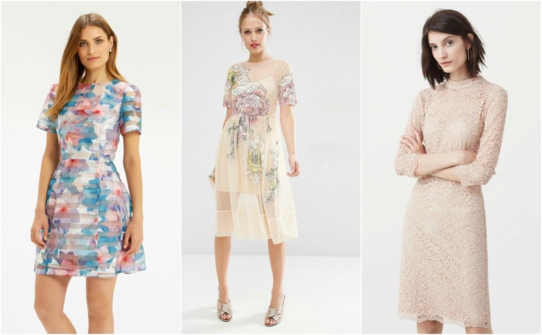 House Party Wear Fashion Engagement Dress Silk Chiffon Lace Floral