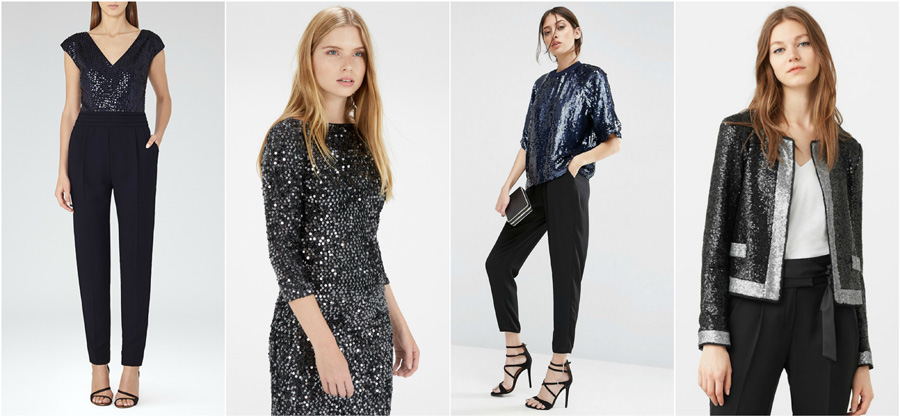 House Party Wear Sequins Fashion Sparkly Glitter Blazer Top Jumpsuit