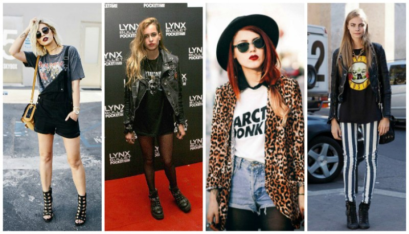 Modern Grunge Outfit Inspiration Band T-Shirt