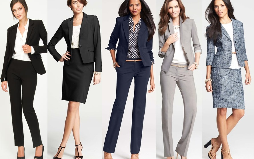 business professional work wear formal power suit women