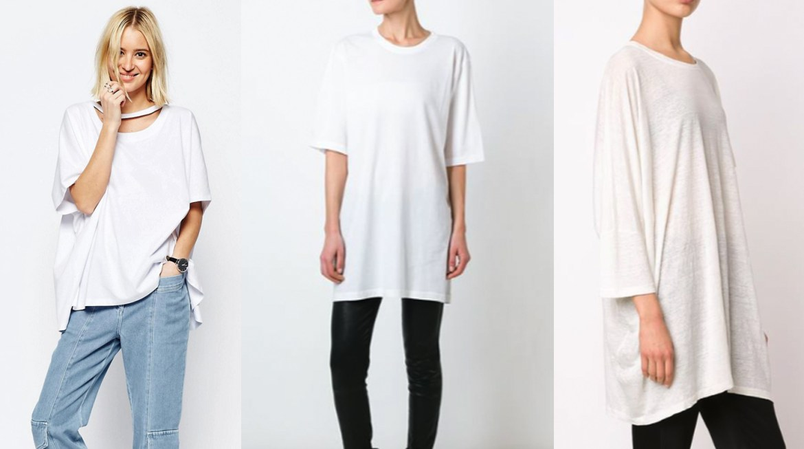 outfit grid womens oversized white t shirts fashion style
