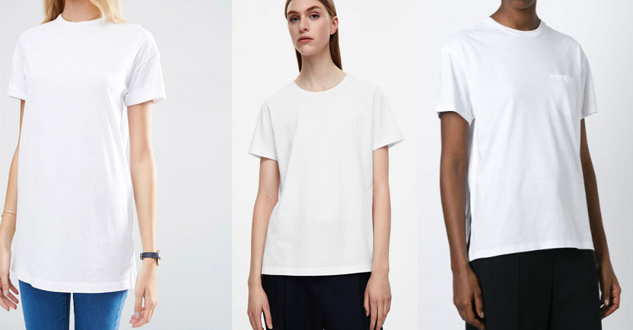 outfit grid womens white t-shirts crew v neck fashion style 790b29215