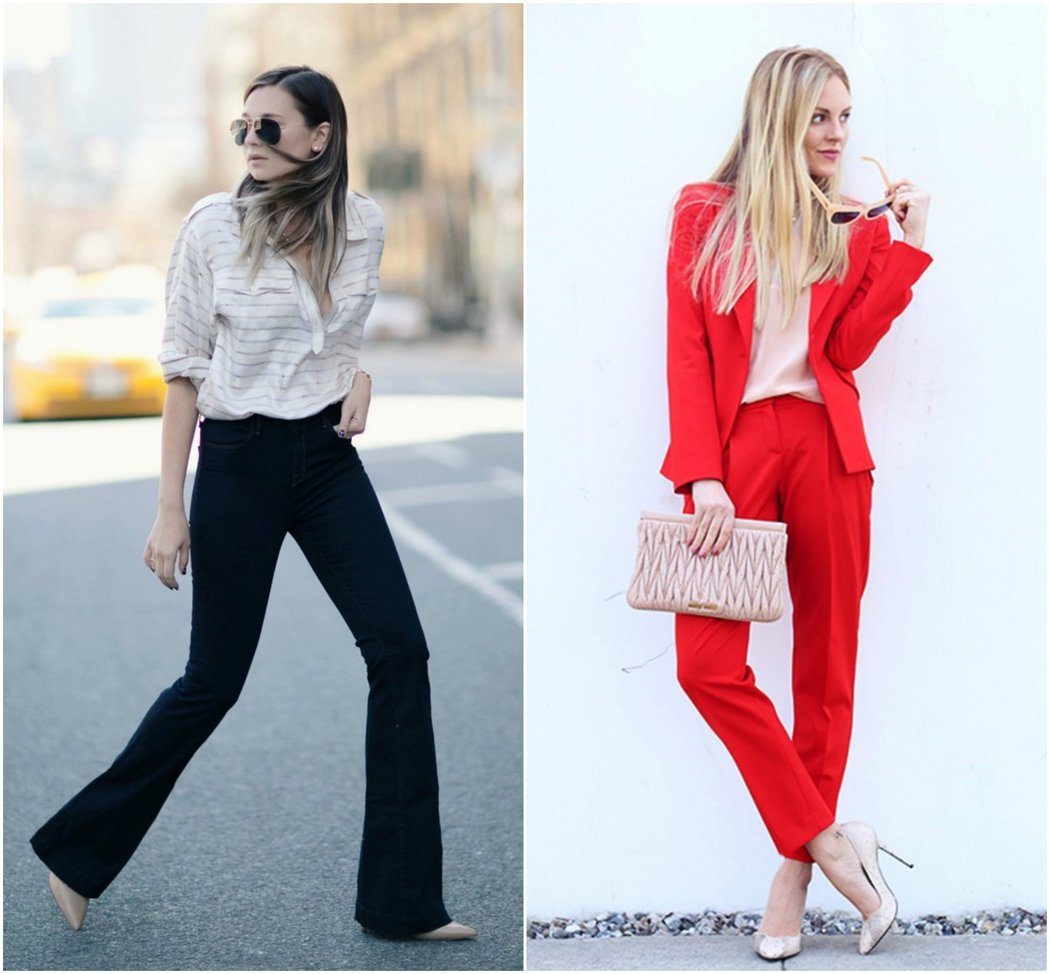 trouser suit blouse flares business casual work wear