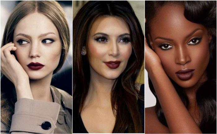 Dark Lipstick How Wear Lip Colour Brown Black Crimson Kardashian
