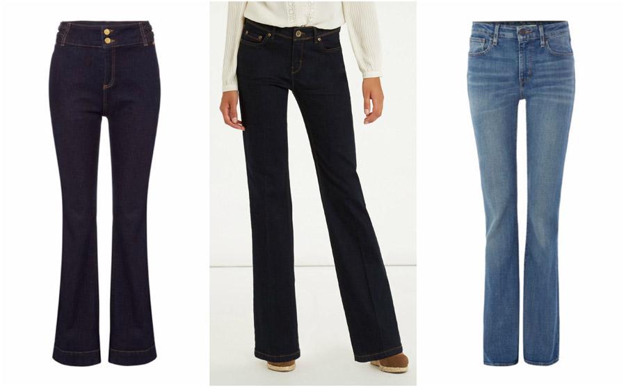 Flare Bootcut High Waist Jeans Shop Grid Alexie