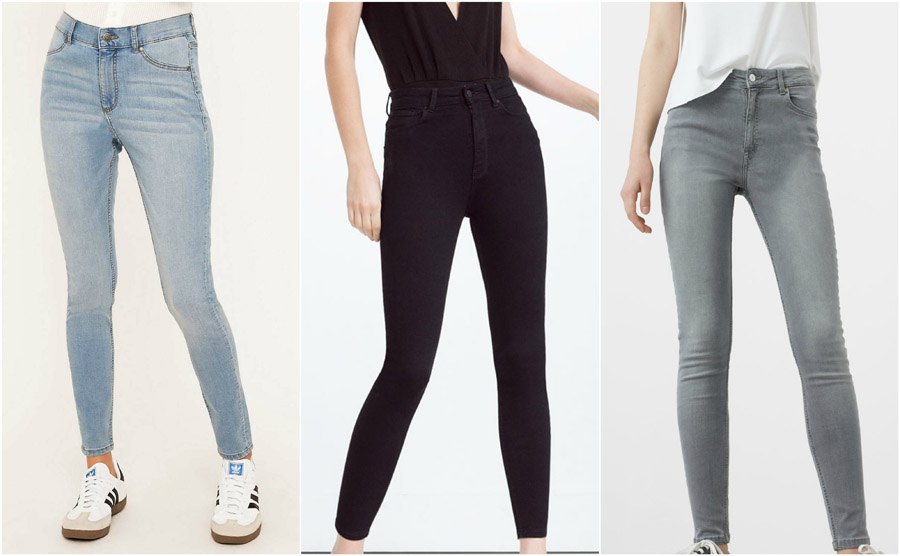 Skinny High Waist Jeans Shop Grid Alexie