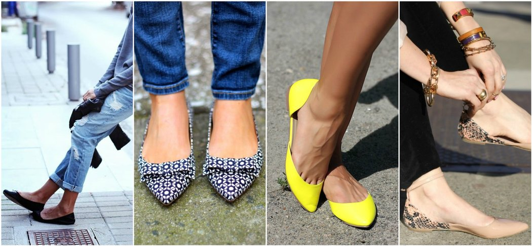 Outfit grid: ballet flats classic pointy open side strappy