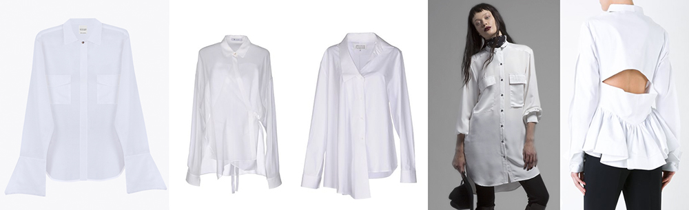 outfit grid white shirts luxury high end designer