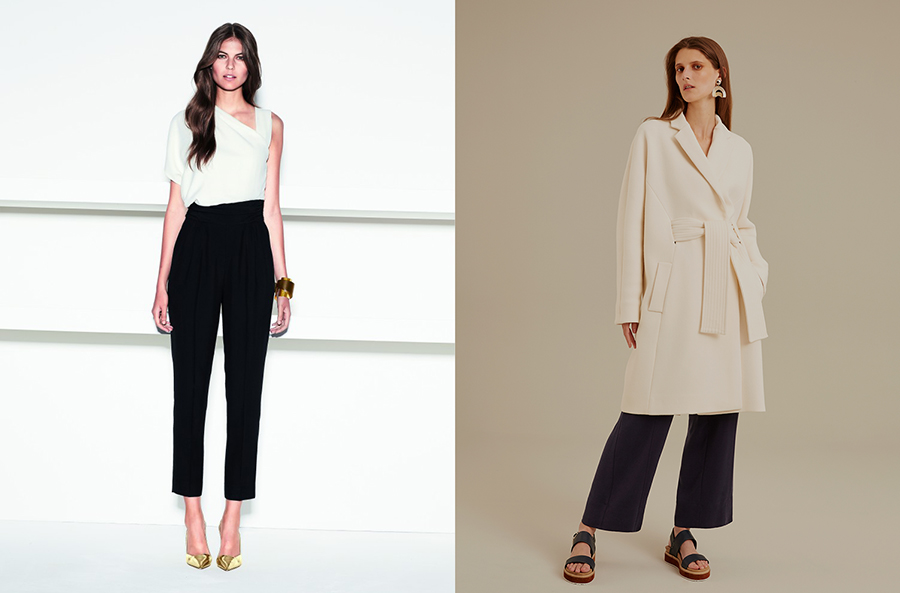 outfit grid womens black pants white shirt business casual
