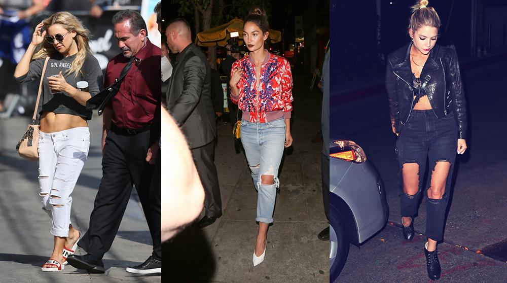 outfit grid womens boyfriend jeans celeb inspiration