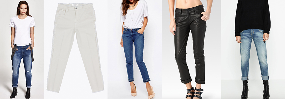 outfit grid womens boyfriend jeans distressed blue black white