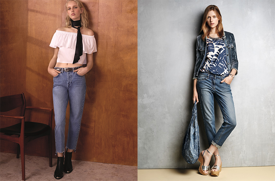 outfit grid womens boyfriend jeans light dark wash style.psd