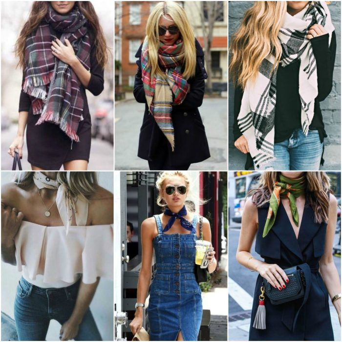 Outfit grid: Scarfs for Summer and Winter