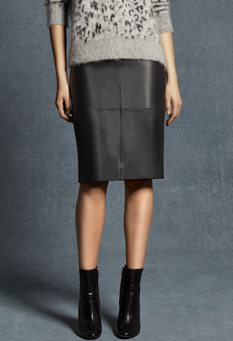 Karen Millen Leather Skirt £350