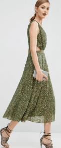 ASOS Embellished Side Cut Out Midi Dress £85