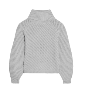 IRIS AND INK Antonia ribbed merino wool turtleneck sweater £175
