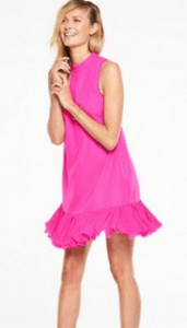 V by Very High Neck Petal Swing Pink Dress £24