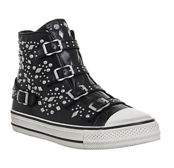 ASH Vegas studded leather high-top trainers £169.00