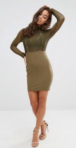 Naanaa All Over Mesh Top Bodycon Dress £22.00
