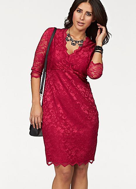 Curvissa Apart Lace Pink Dress £105