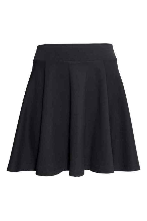H&M Black Bell Shaped Skirt £7.99