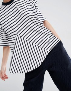 ASOS WHITE Cut Away Striped Top £32.00