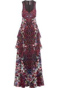 Mary Katrantzou Ruffled Printed Maxi Dress £1,247.40