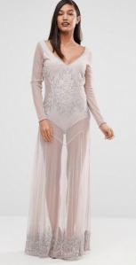Boohoo Boutique Beaded Sheer Maxi Dress £25.00