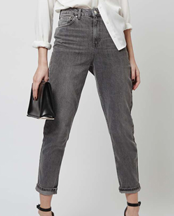 Topshop MOTO Grey Mom Jeans