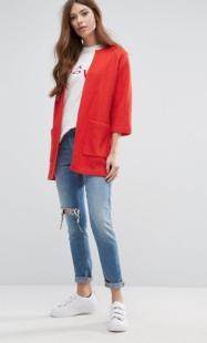 ASOS Selected Boxy Knit Cardigan