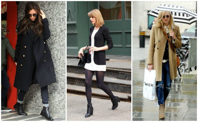 Victoria Beckham, Taylor Swift and Fearne Cotton wear ankle boots in autumn/winter