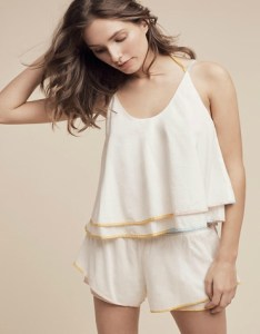Anthropologie Eloise Layered Colorblock Sleep Top