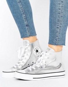 converse, sneakers, metallic, high tops