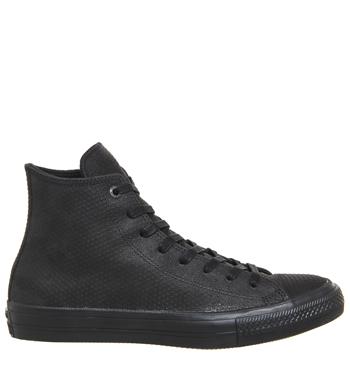 Converse, Black, Leather