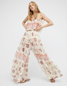 Pretty floral printed femme set featuring an ethereal silhouette with a sheer fabrication