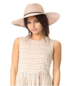 Blush pink sunhat with snakeskin band