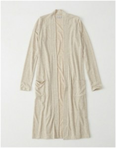 Abercrombie & Fitch long cream duster cardigan