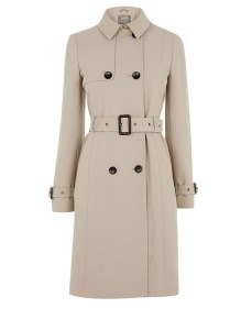 Cream Trench Coat Belted
