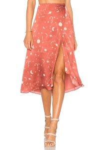 Constellation print skirt