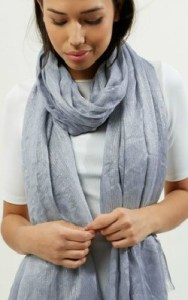 New Look Grey Metallic Longline Scarf
