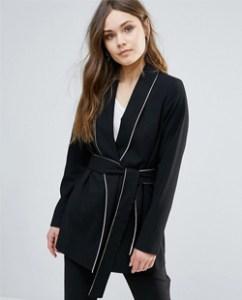 Piping Kimono Jacket