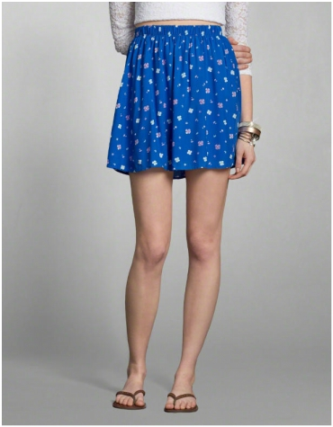 Abercrombie and Fitch Natural Waist Skater Skirt