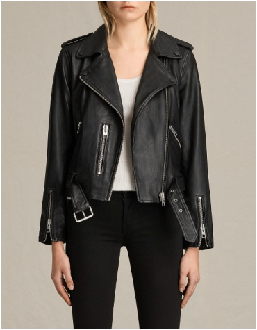 All Saints Black Leather Jacket