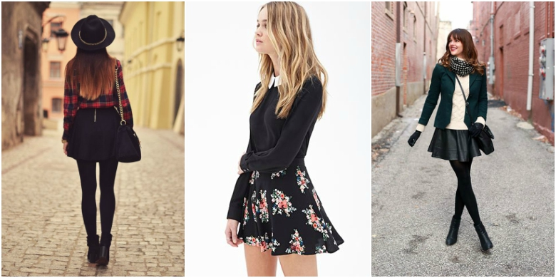 Autumn Winter Skater Skirts