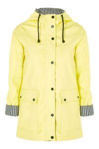 Yellow Hooded Raincoat Mac