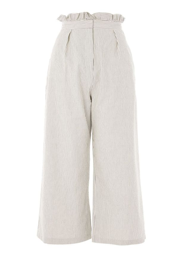 Stripe Ruffle Waist Trousers