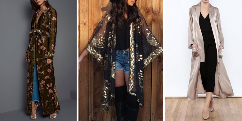 Kimono Jacket Outfit Inspiration Night Look