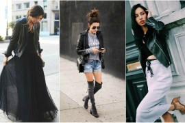 what to wear with a leather jacket